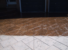 Patterned concrete sealing in vaughan